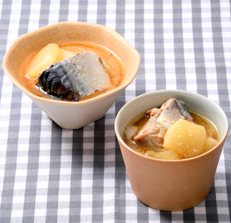 冬瓜とサバ缶の味噌汁