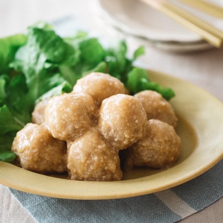 ふわふわ豆腐ミートボールの味噌甘酢あんかけ