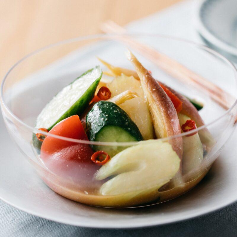 香味野菜の浅漬けタパス