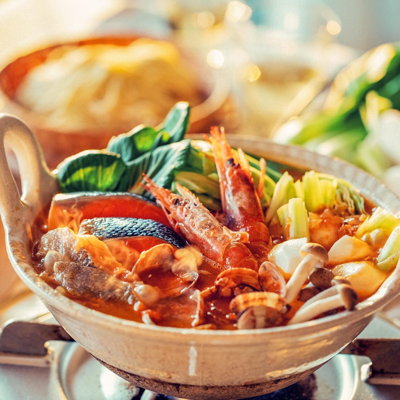 海鮮トマト味噌鍋