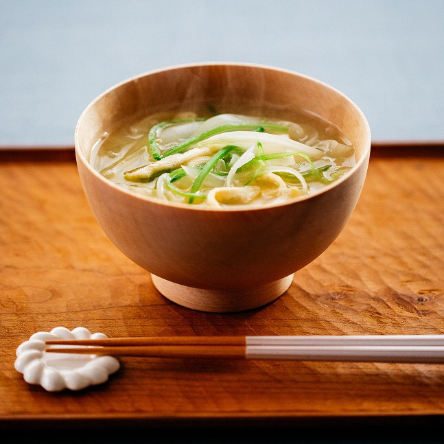 千切り春野菜の味噌汁
