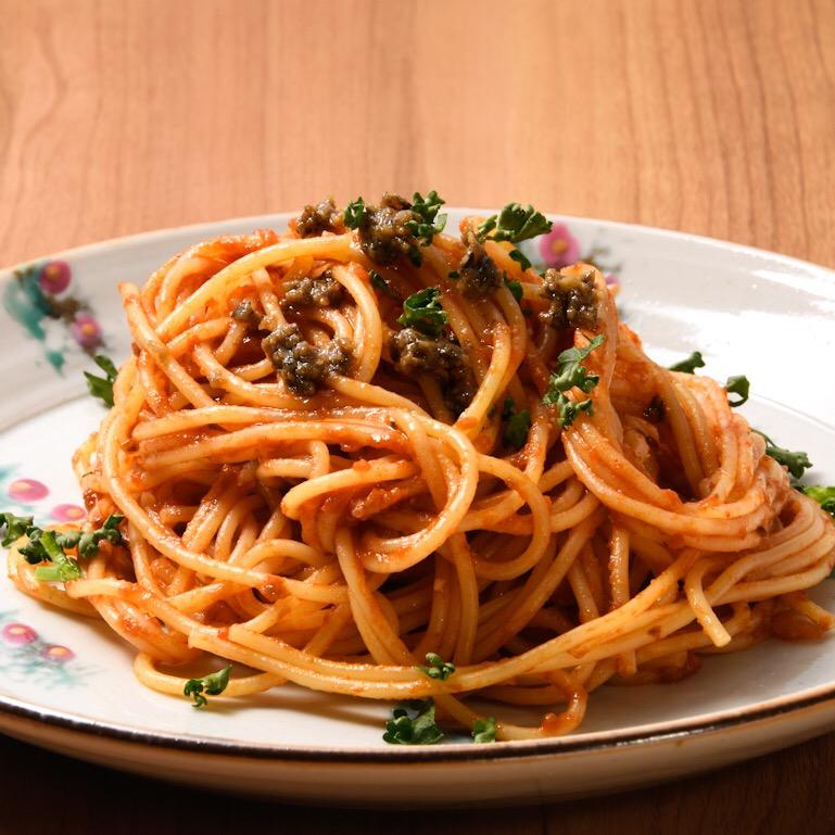 オリーブ味噌のトマトパスタソース