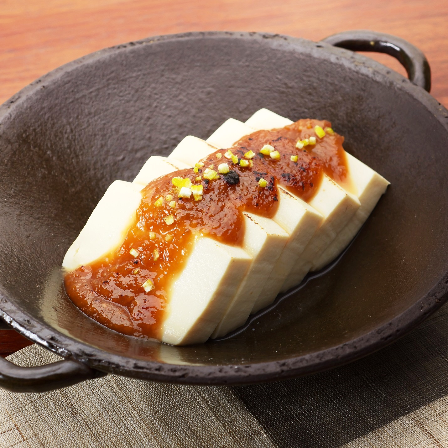 温豆腐の味噌田楽