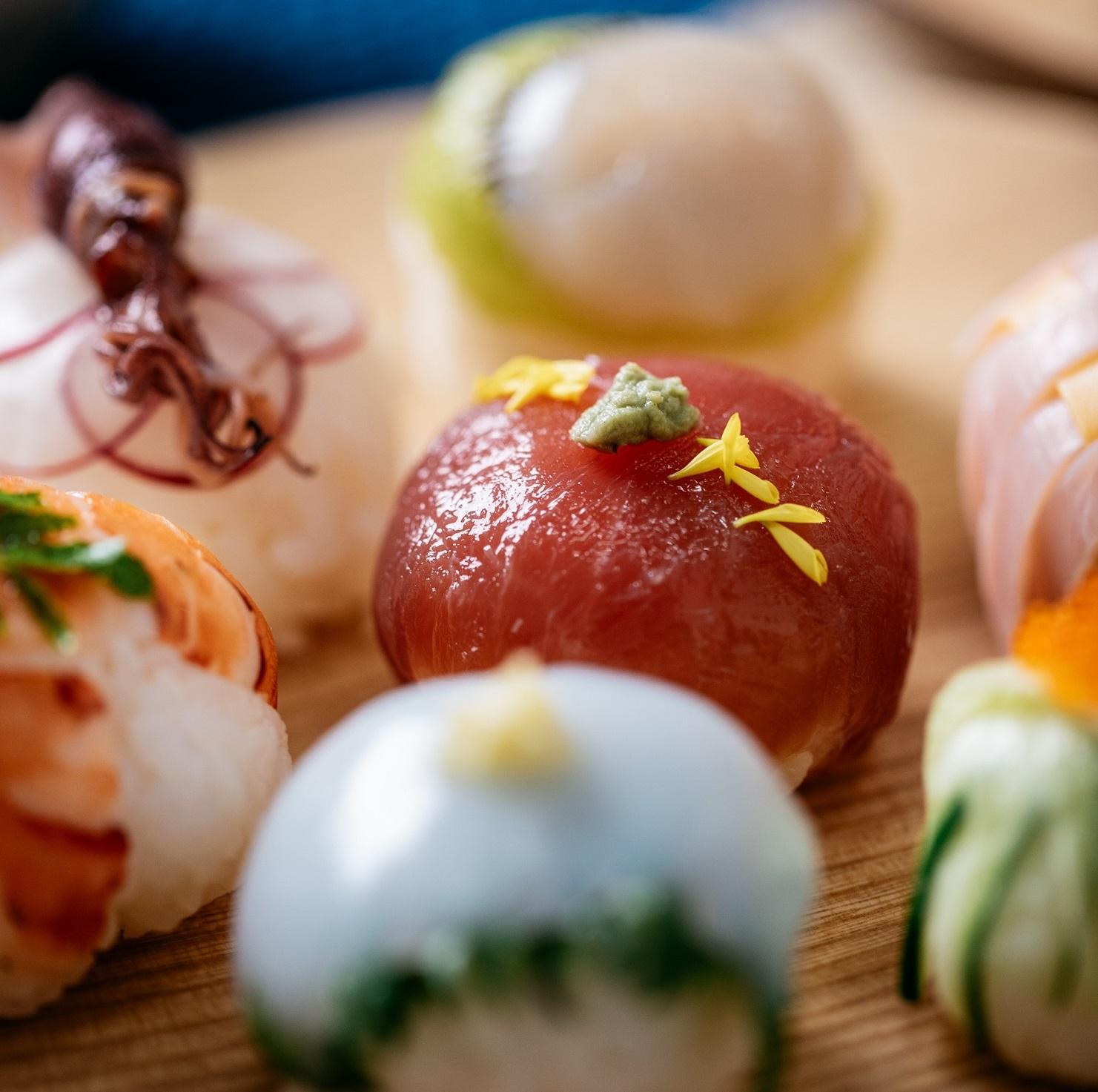 隠し味噌の手まり寿司