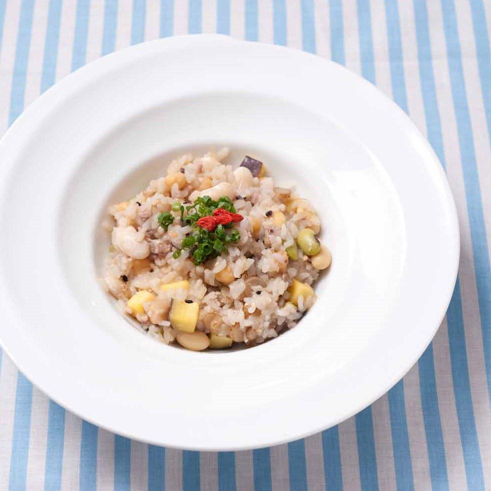 雑穀と豆の味噌リゾット