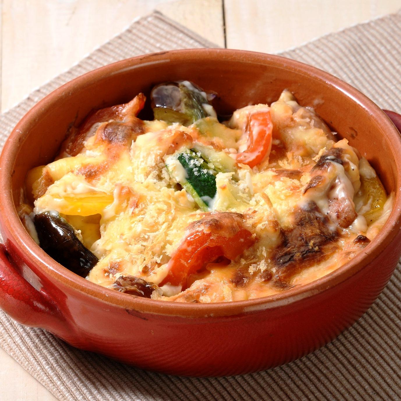 夏野菜の味噌グラタン