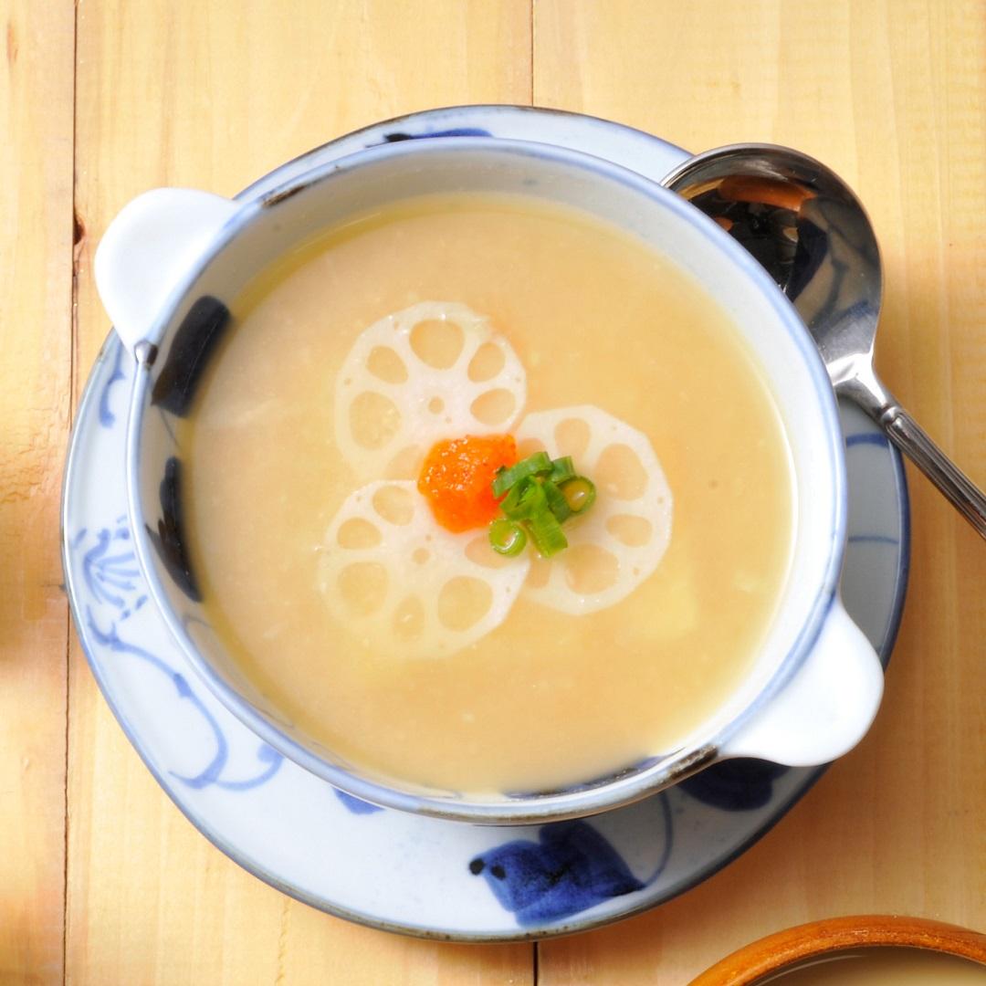 おろしれんこん味噌スープ