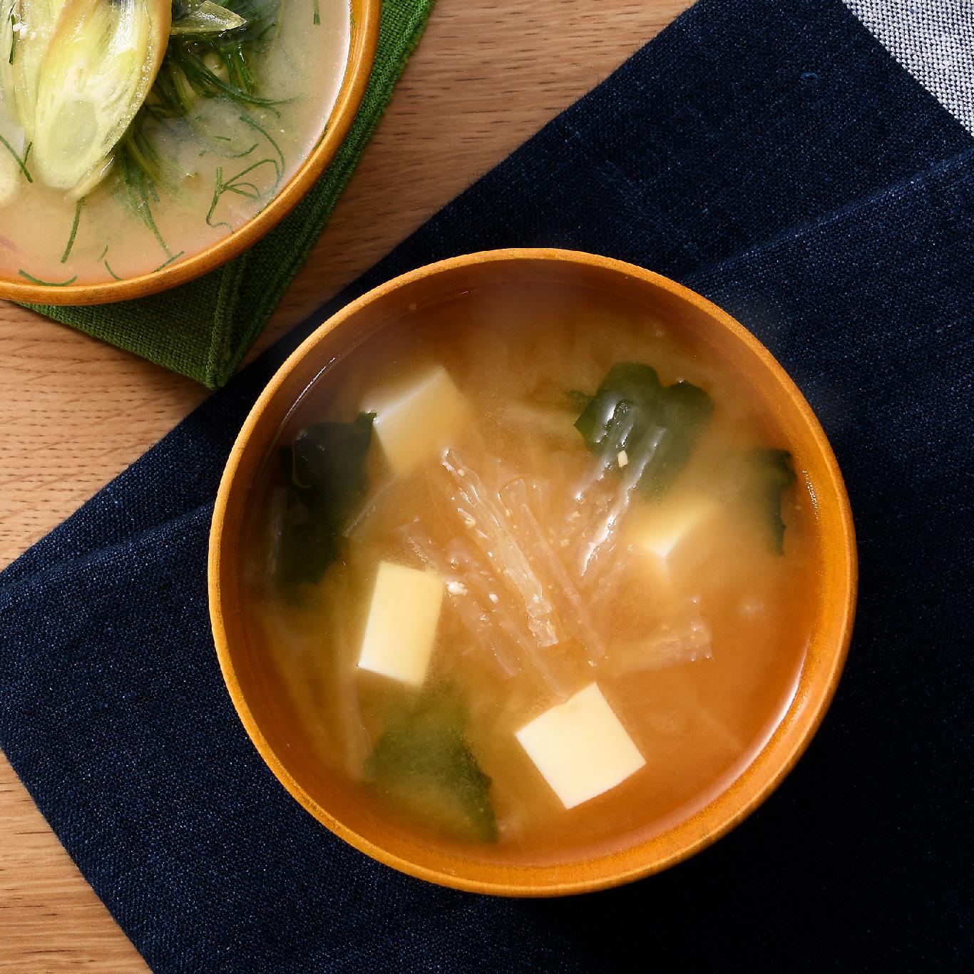 糸寒天の味噌汁