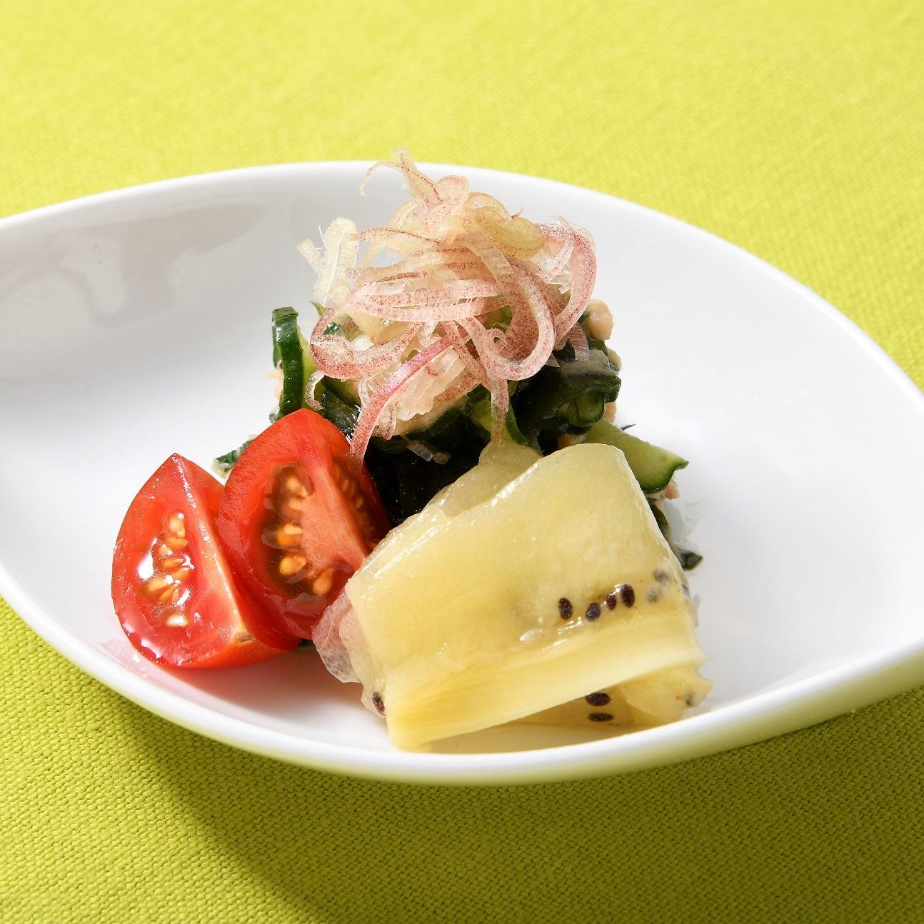 ツナと夏野菜 酢味噌和え