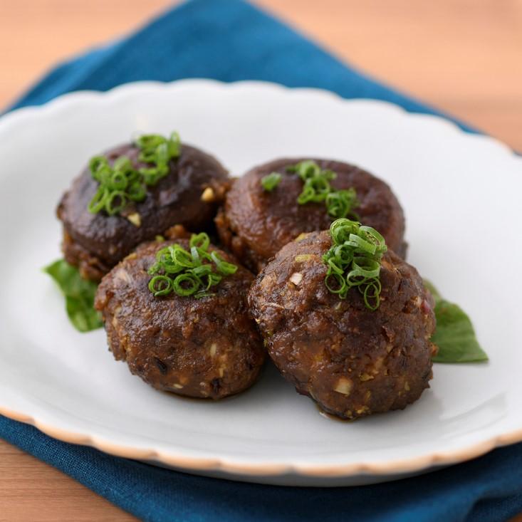 ベジタリアンの椎茸の肉詰め