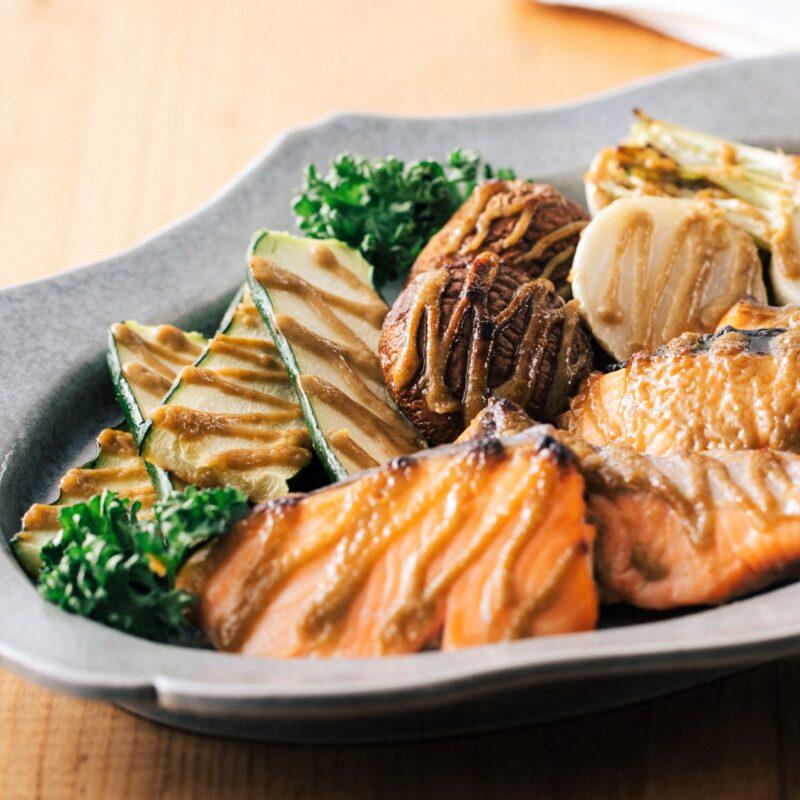 鮭と野菜のさっぱりグリル
