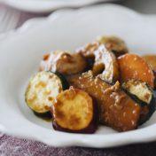 甘酒と黒酢の根菜マリネ