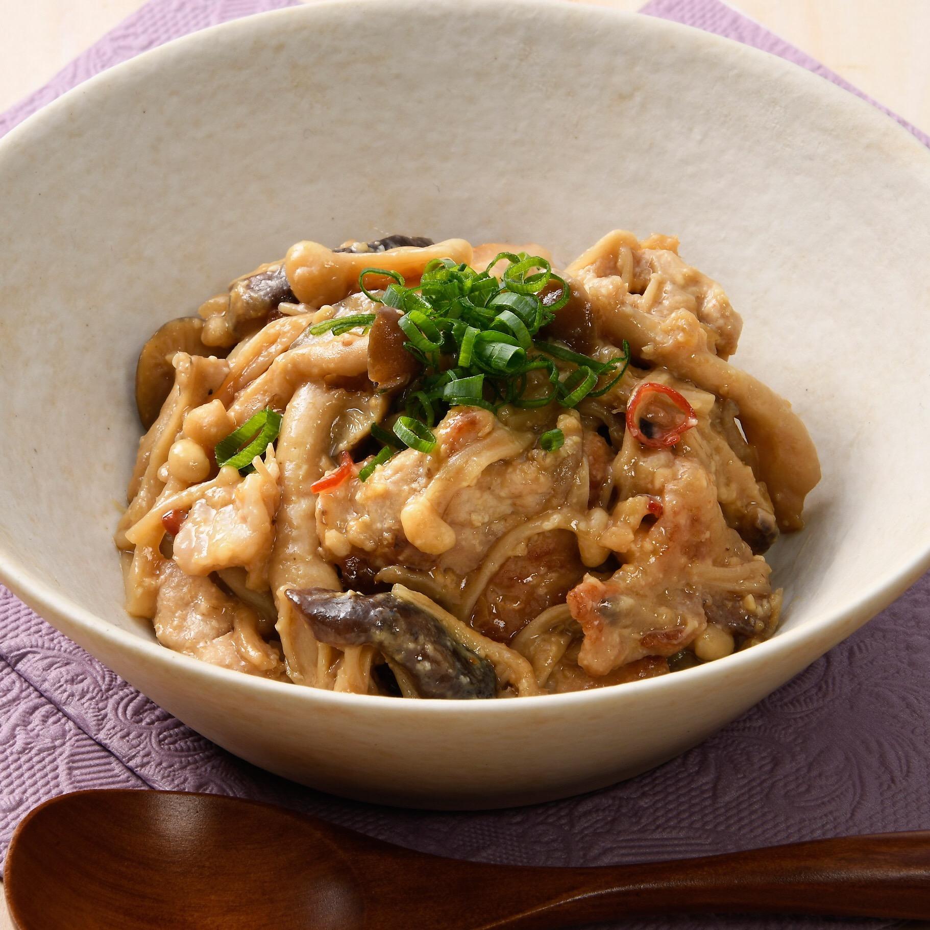 豚肉のきのこ味噌炒め 