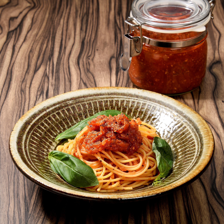 トマト味噌パスタ
