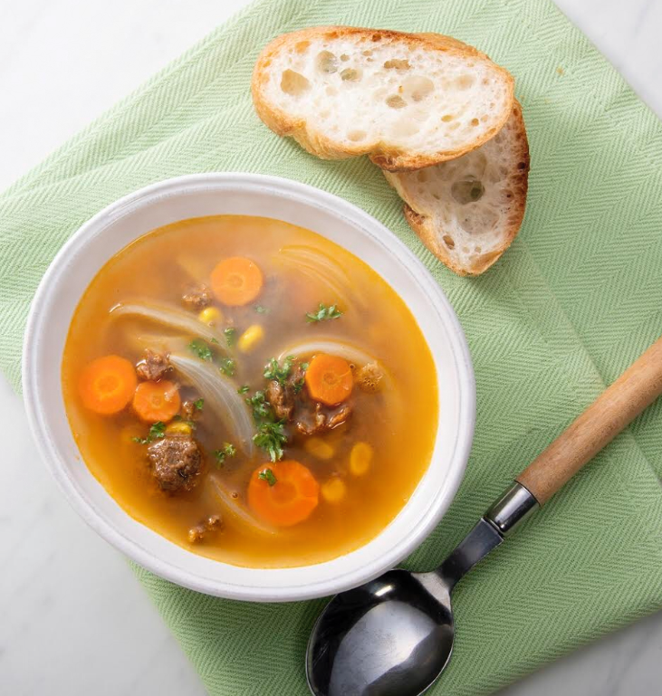 野菜のそぼろのカレー風スープ