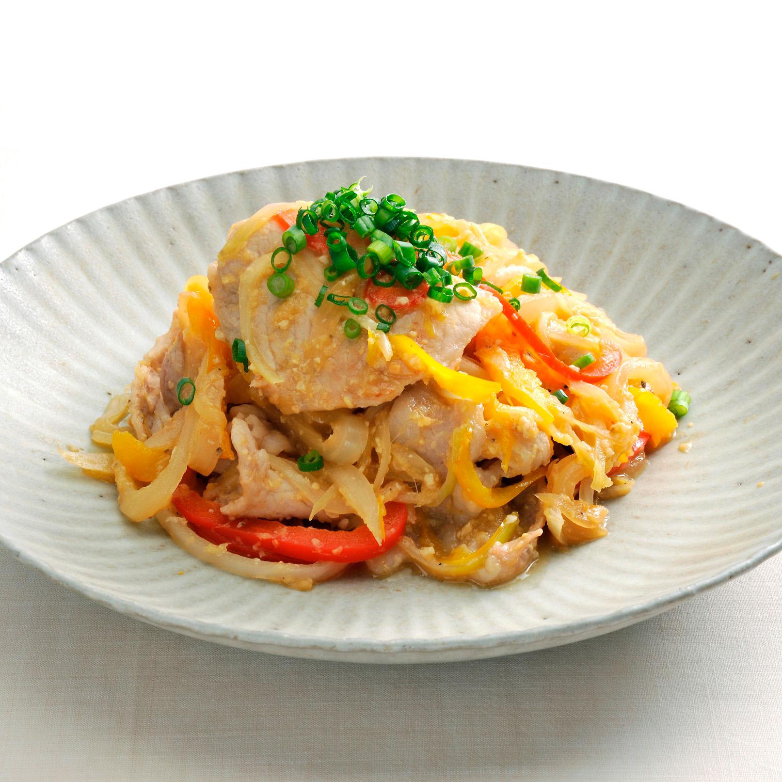 豚肉と玉ねぎ・パプリカの生姜焼き