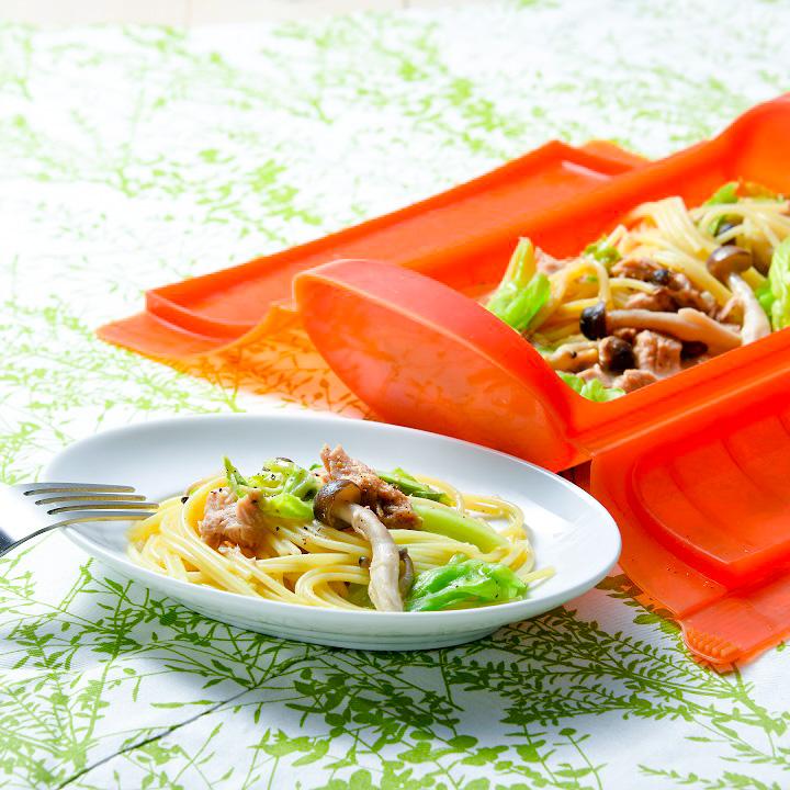 ツナとキャベツの味噌パスタ