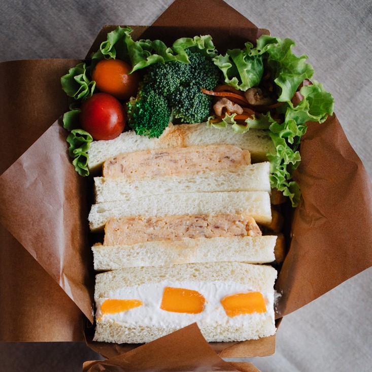 甘酒厚焼き卵のサンドイッチ