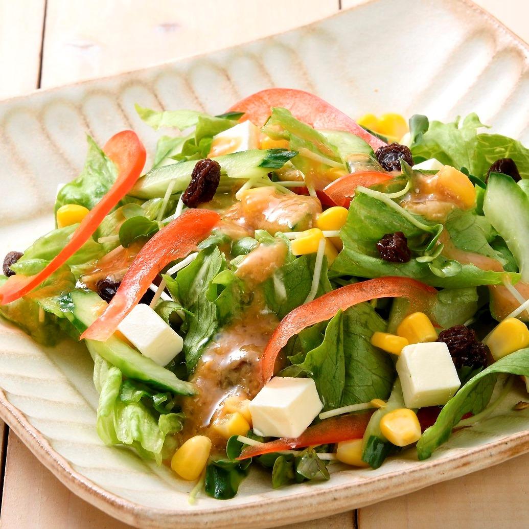 夏野菜サラダ味噌ドレッシング