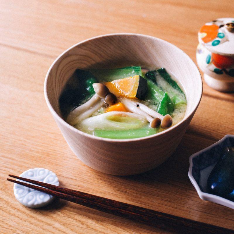 冷凍ストック野菜の味噌汁