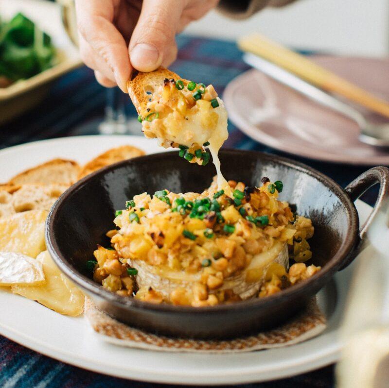 納豆の味噌カマンベール焼き