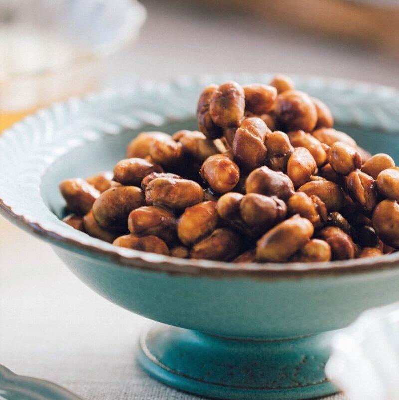 炒り豆の味噌キャラメリゼ