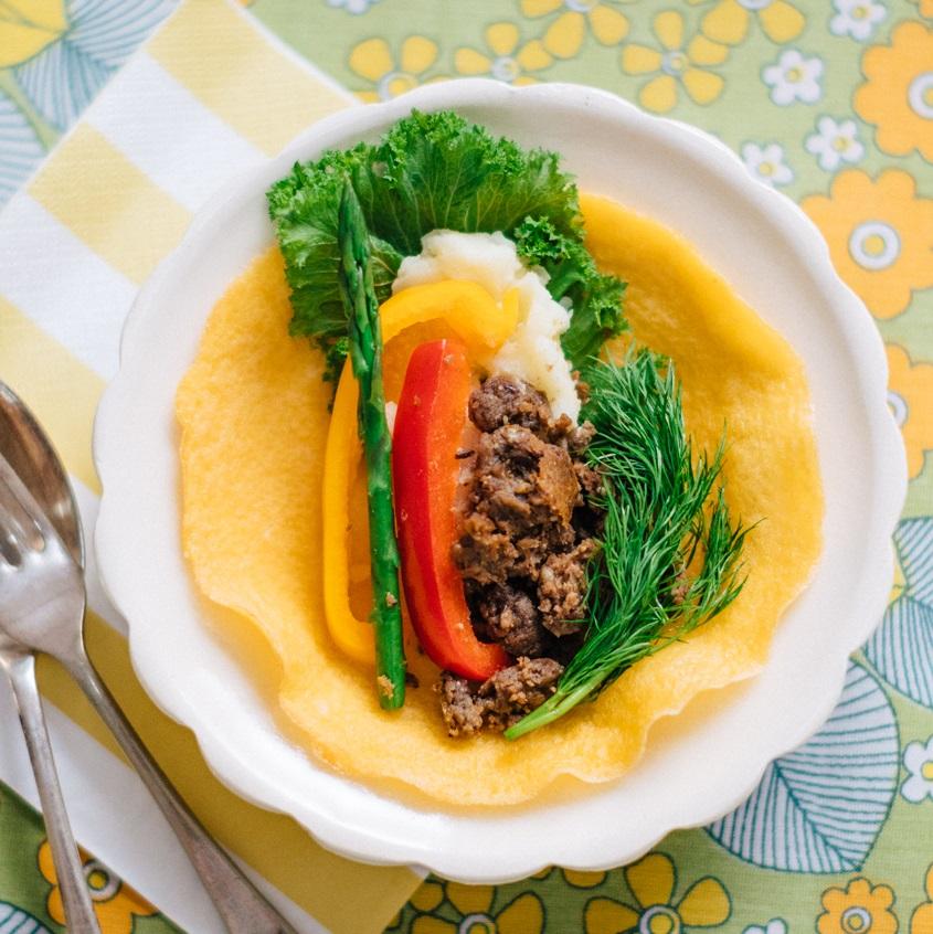 野菜のそぼろの手巻きサラダ寿司