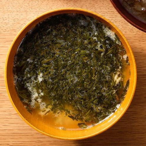 アカモクの味噌汁