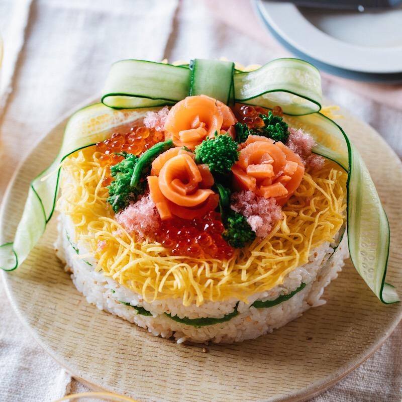 味噌ちらし寿司ケーキ