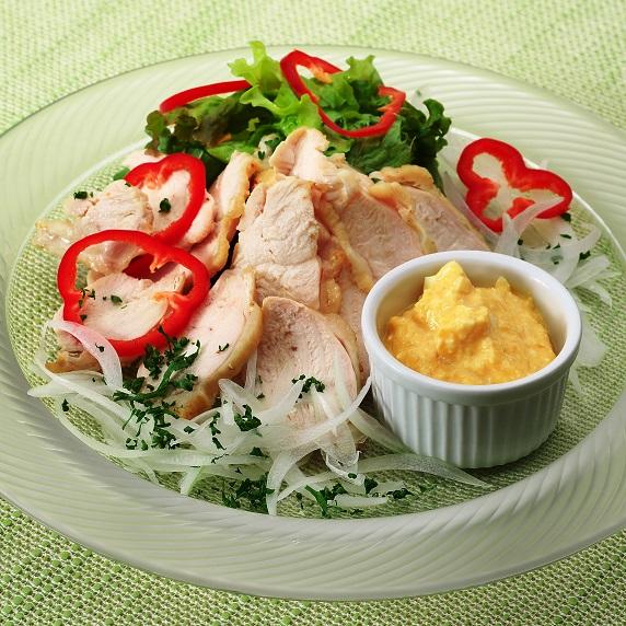 鶏むね肉のサラダ