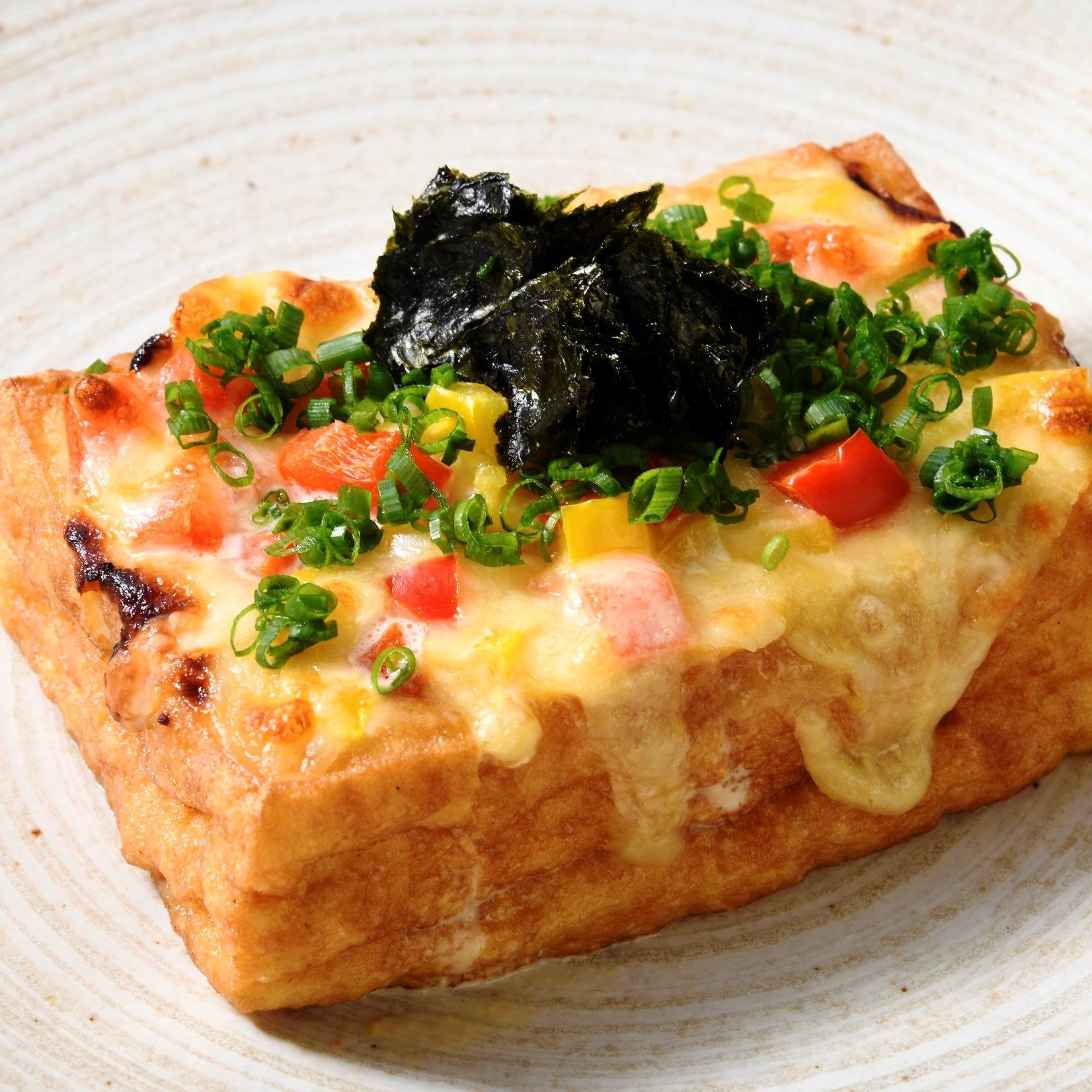 厚揚げの味噌マヨチーズ焼き