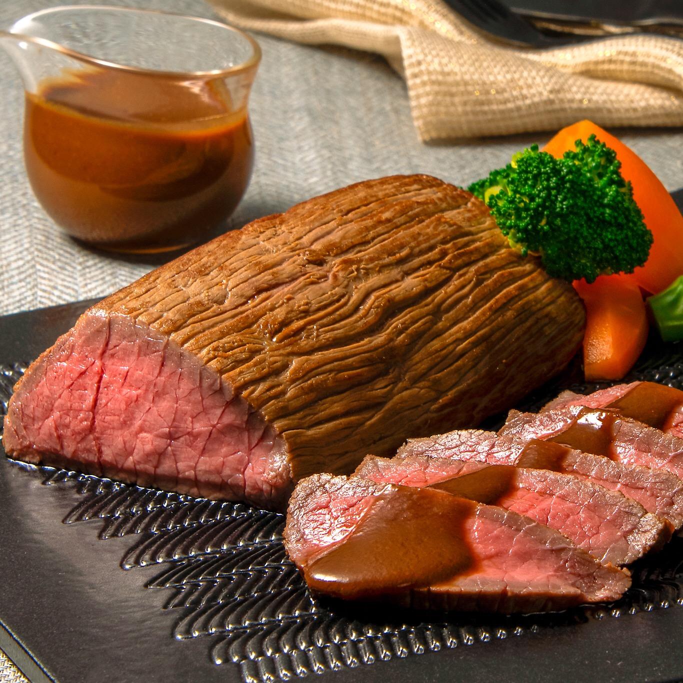 牛もも肉の蒸し煮込み