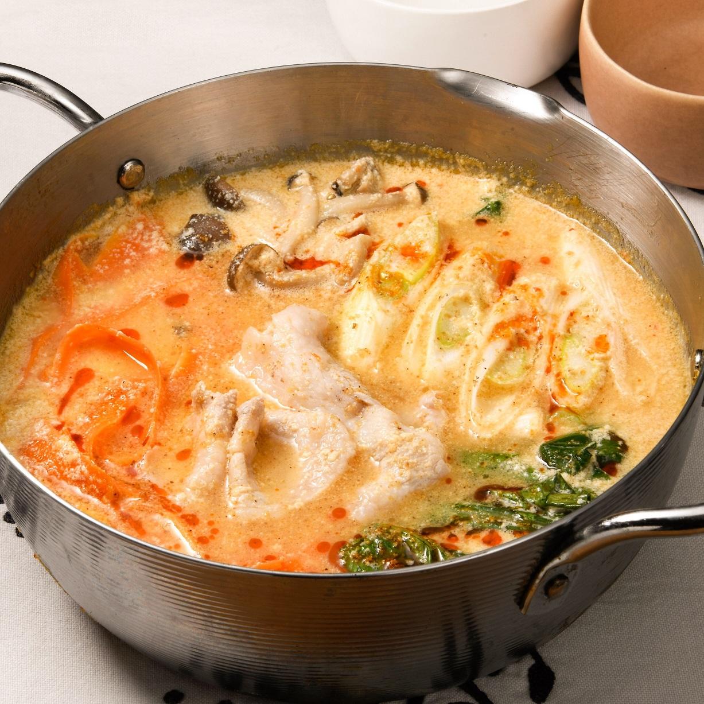 ごま味噌豆乳リボン発酵鍋