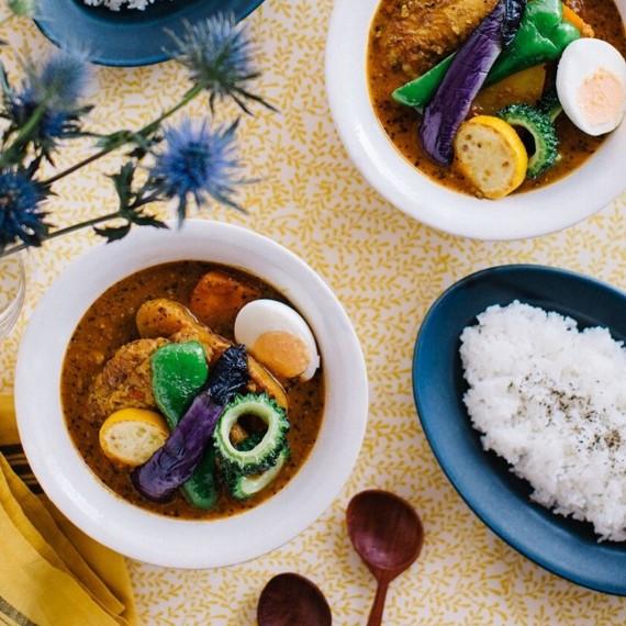 たっぷり夏野菜の味噌スープカレー