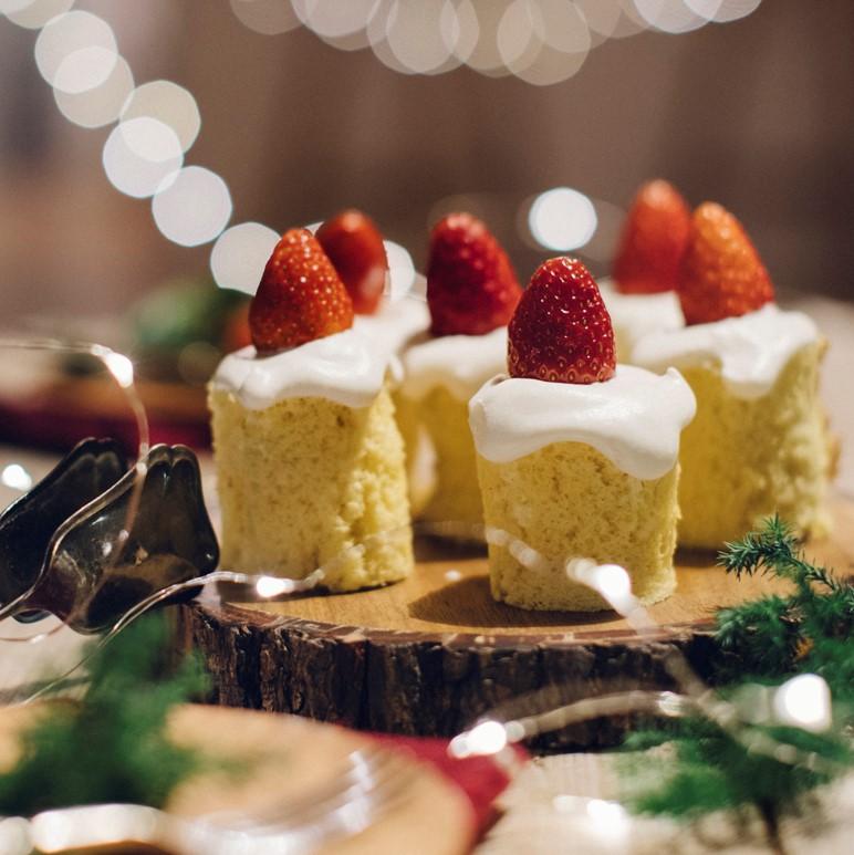 いちごのキャンドルケーキ
